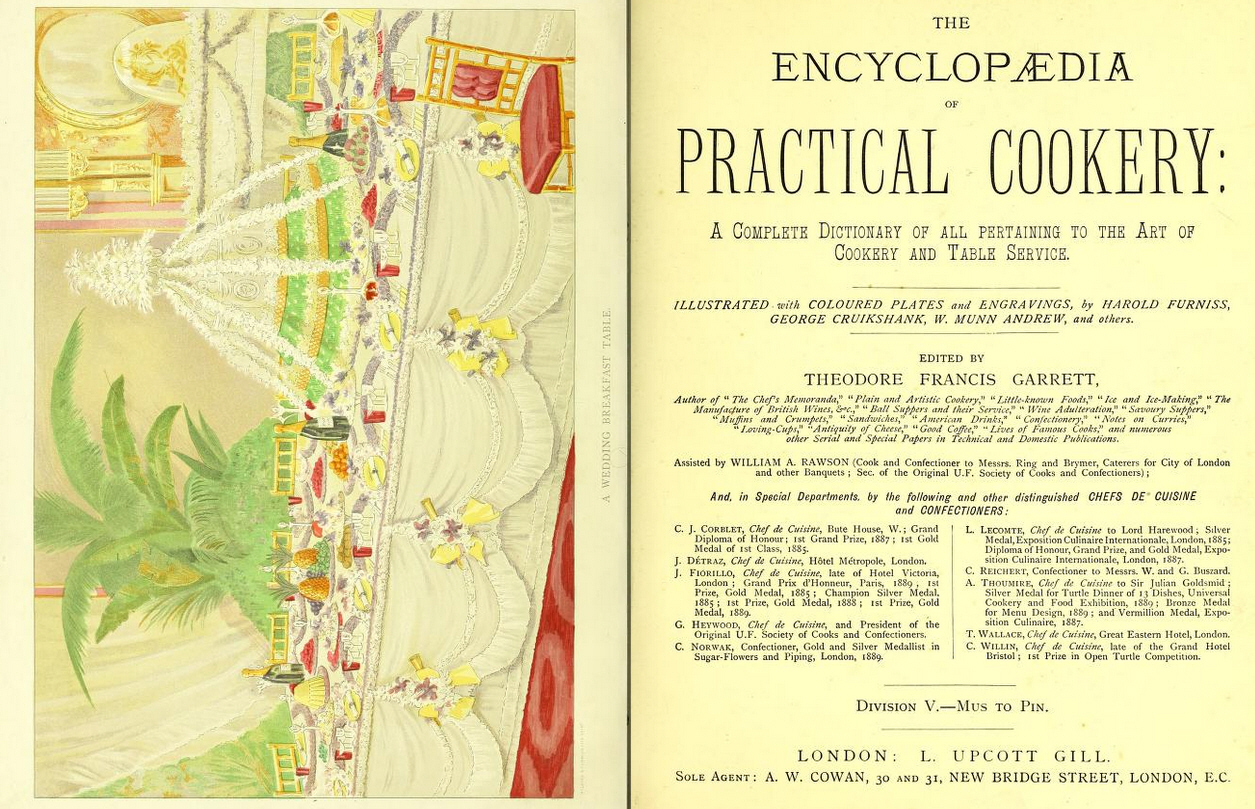 53104f8306 TITLE  The encyclopædia of practical cookery  a complete dictionary of all  pertaining to the art of cookery and table service